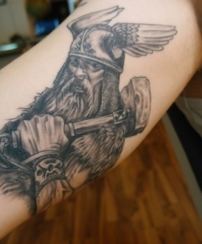 thor tattoo, viking tattoo